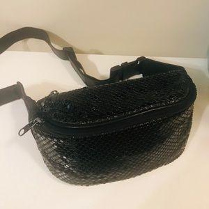 Fun black mesh Fanny pack